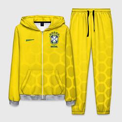 Костюм мужской Brazil Team: WC 2018 цвета 3D-меланж — фото 1