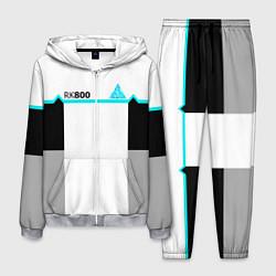 Костюм мужской RK800 White: Become Human цвета 3D-меланж — фото 1