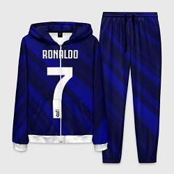Костюм мужской Ronaldo 7: Blue Sport цвета 3D-белый — фото 1