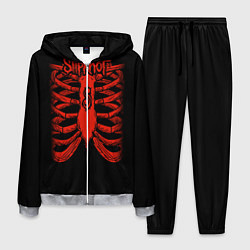 Костюм мужской Slipknot Skeleton цвета 3D-меланж — фото 1