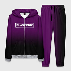 Костюм мужской Black Pink: Violet Gradient цвета 3D-меланж — фото 1