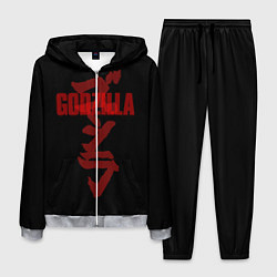 Костюм мужской Godzilla: Hieroglyphs цвета 3D-меланж — фото 1