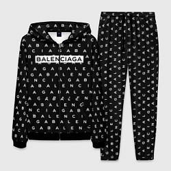 Костюм мужской Balenciaga: ABC цвета 3D-черный — фото 1