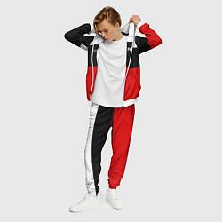 Костюм мужской Balenciaga: White & Red цвета 3D-белый — фото 2