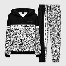 Костюм мужской Balenciaga: Black & White Words цвета 3D-черный — фото 1