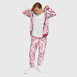 Костюм мужской Розовый фламинго цвета 3D-красный — фото 2
