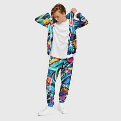 Костюм мужской Street Fashion цвета 3D-белый — фото 2