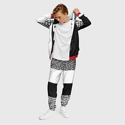 Костюм мужской SENPAI: Black & White цвета 3D-красный — фото 2