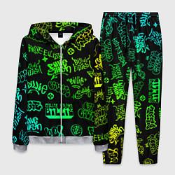 Костюм мужской BILLIE EILISH: Grunge Graffiti цвета 3D-меланж — фото 1