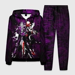 Костюм мужской Harley and Joker цвета 3D-черный — фото 1
