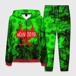 Костюм мужской NCoV-2019 цвета 3D-красный — фото 1