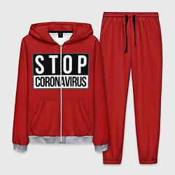 Костюм мужской Stop Coronavirus цвета 3D-меланж — фото 1