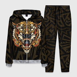 Костюм мужской Тигровый стимпанк Tiger цвета 3D-меланж — фото 1