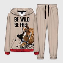 Костюм мужской Be wild be free цвета 3D-красный — фото 1