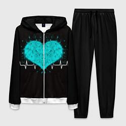 Костюм мужской Стук сердца цвета 3D-белый — фото 1