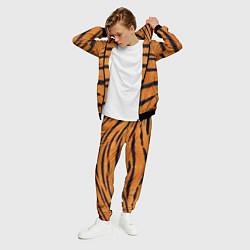 Костюм мужской Тигровый Раскрас цвета 3D-черный — фото 2