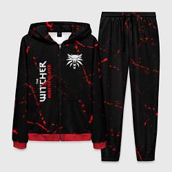 Костюм мужской The Witcher Monster Slayer - Grunge цвета 3D-красный — фото 1
