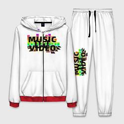Костюм мужской Merch - DJ MUSICVIDEO цвета 3D-красный — фото 1