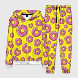 Костюм мужской Пончики Гомера цвета 3D-белый — фото 1