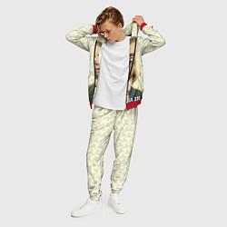 Костюм мужской Кобейн с пистолетом цвета 3D-красный — фото 2