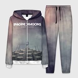 Костюм мужской Imagine Dragons: Night Visions цвета 3D-белый — фото 1