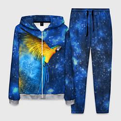 Костюм мужской Космический попугай цвета 3D-меланж — фото 1