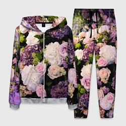 Костюм мужской Весенние цветы цвета 3D-меланж — фото 1