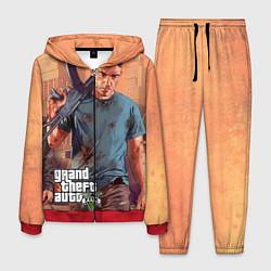 Костюм мужской GTA 5: Gangsta цвета 3D-красный — фото 1