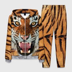 Костюм мужской Взгляд тигра цвета 3D-меланж — фото 1