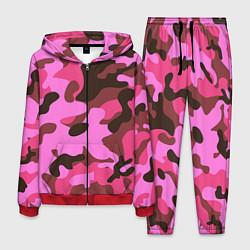 Костюм мужской Камуфляж: розовый/коричневый цвета 3D-красный — фото 1
