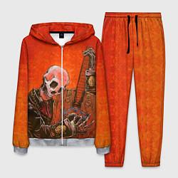 Костюм мужской Скелет с гитарой цвета 3D-меланж — фото 1