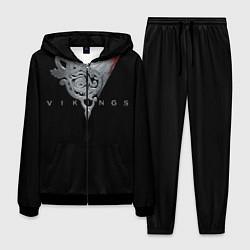 Костюм мужской Vikings Emblem цвета 3D-черный — фото 1