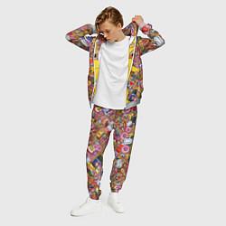 Костюм мужской Обжора Гомер цвета 3D-меланж — фото 2