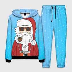 Костюм мужской Дед мороз цвета 3D-черный — фото 1