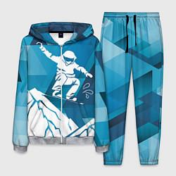 Костюм мужской Горы и сноубордист цвета 3D-меланж — фото 1