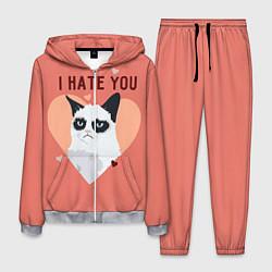 Костюм мужской I hate you цвета 3D-меланж — фото 1