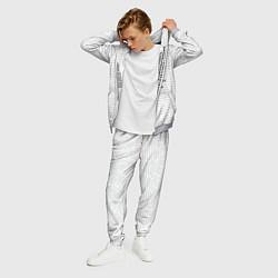 Костюм мужской Облако тегов: белый цвета 3D-меланж — фото 2