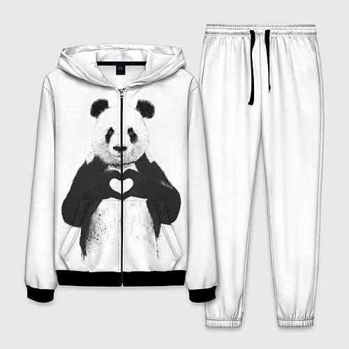 Мужской костюм Panda Love / 3D-Черный – фото 1
