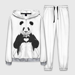 Костюм мужской Panda Love цвета 3D-меланж — фото 1