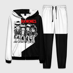 Костюм мужской Ramones Boys цвета 3D-черный — фото 1