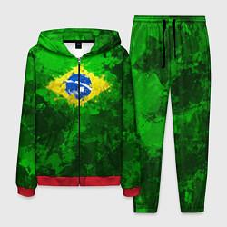 Костюм мужской Бразилия цвета 3D-красный — фото 1