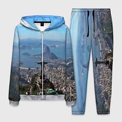 Костюм мужской Рио-де-Жанейро цвета 3D-меланж — фото 1
