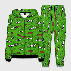 Костюм мужской Sad frogs цвета 3D-черный — фото 1