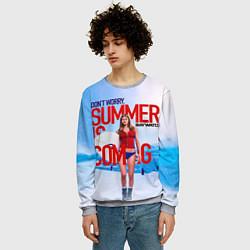 Свитшот мужской Summer is coming цвета 3D-меланж — фото 2