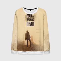Свитшот мужской FtWD: Walking Zombie цвета 3D-белый — фото 1