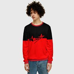 Свитшот мужской АлисА: Черный & Красный цвета 3D-красный — фото 2