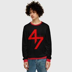 Свитшот мужской Hitman: Agent 47 цвета 3D-красный — фото 2