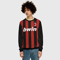 Свитшот мужской AC Milan: Ronaldo Retro цвета 3D-черный — фото 2