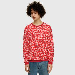 Свитшот мужской Supreme: Red Letters цвета 3D-красный — фото 2