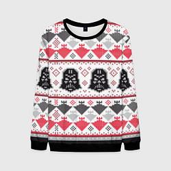 Свитшот мужской Дарт Вейдер Новогодний цвета 3D-черный — фото 1